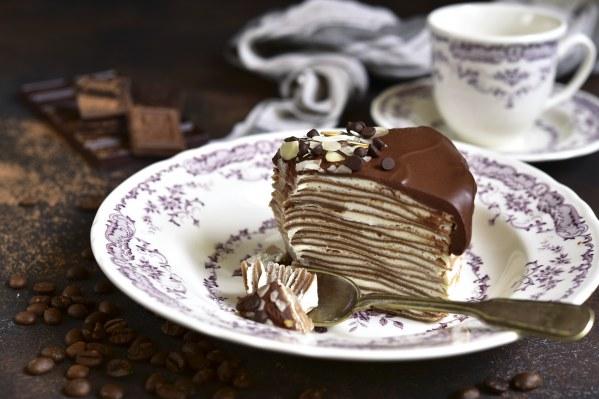 Gâteau de crêpes façon cheesecake à la confiture de châtaigne à la vanille