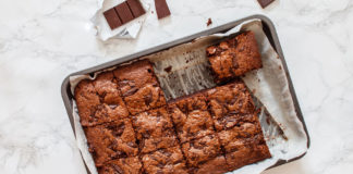Brownie au chocolat sans matière grasse