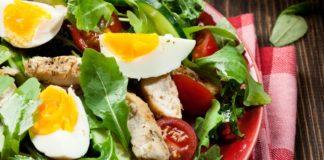Oeufs d'oie en salade