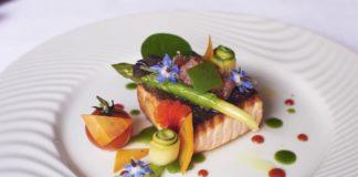 Pavé de saumon grillé à l'unilatérale