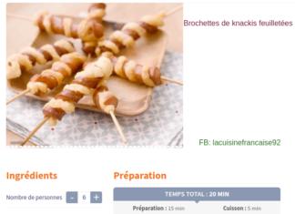 Brochettes de knackis feuilletées -la cuisine francaise