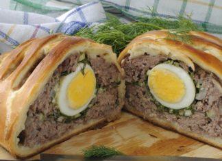Pâté de pâques aux 3 viandes et oeufs