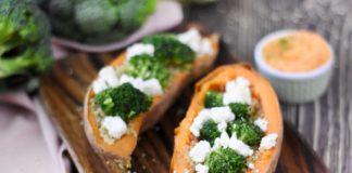 Patate douce farcie quinoa et brocoli la cuisine française