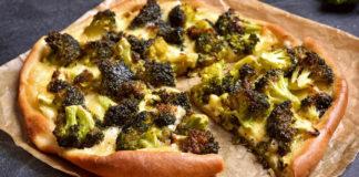 Tarte fine au brocoli et gorgonzola