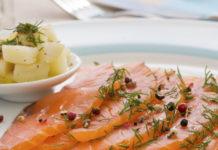 saumon mariné de la cuisine française